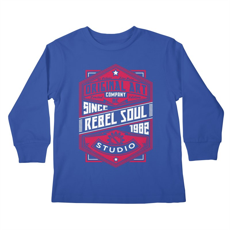 Mens Standard Issue Label (Two Color) Kids Longsleeve T-Shirt by rebelsoulstudio's Artist Shop