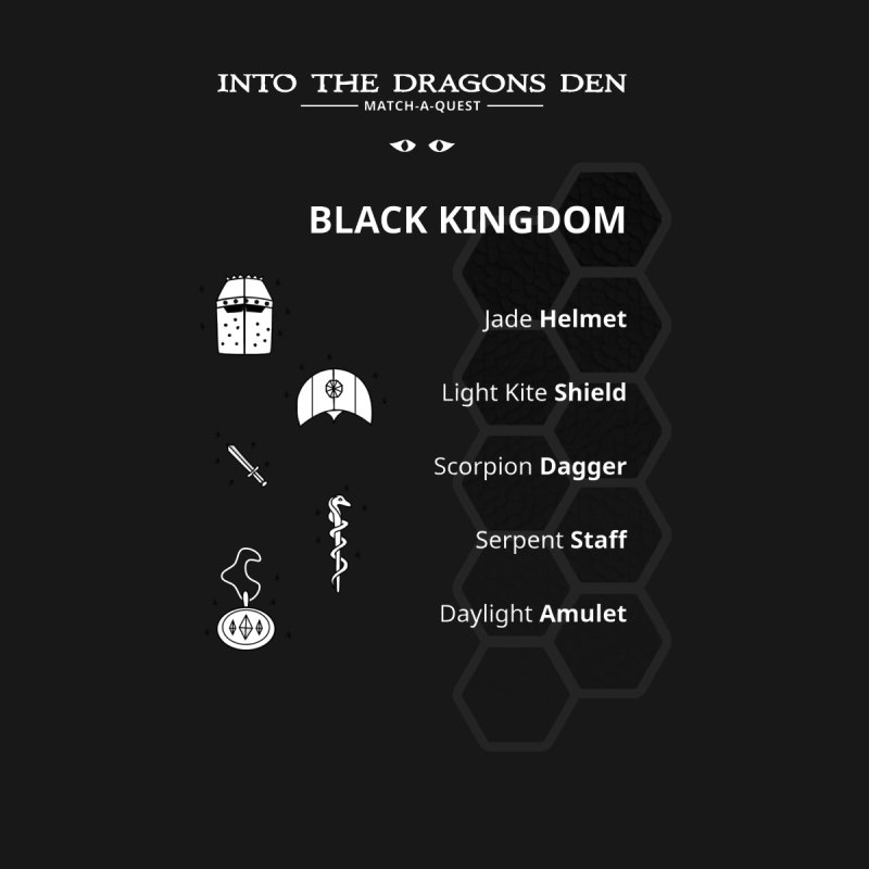 Into The Dragons Den / Black Kingdom (B&W) Men's T-Shirt by The RECEPTORCELL Shop
