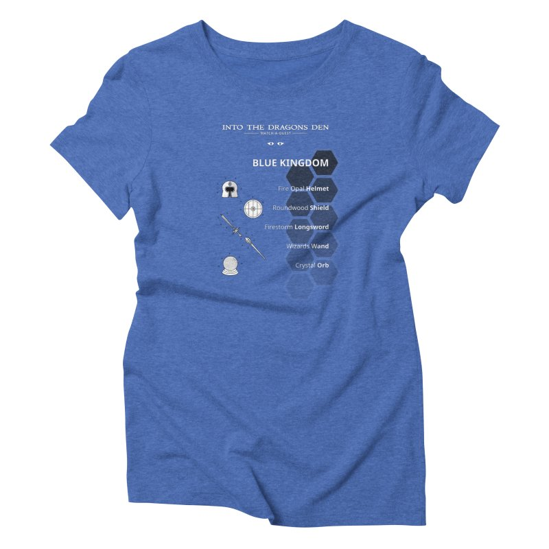Into The Dragons Den / Blue Kingdom (B&W) Women's T-Shirt by The RECEPTORCELL Shop