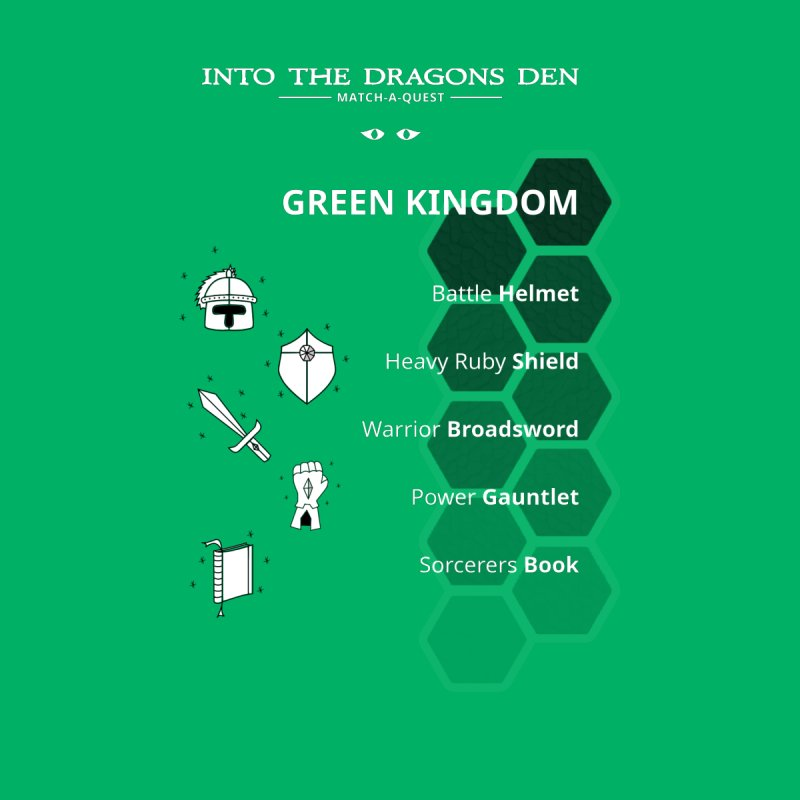 Into The Dragons Den / Green Kingdom (B&W) Men's T-Shirt by The RECEPTORCELL Shop