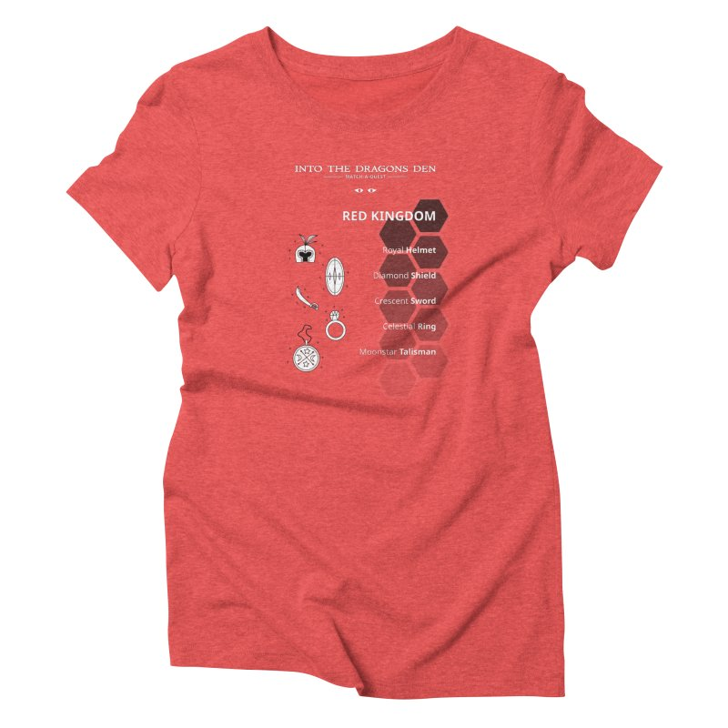Into The Dragons Den / Red Kingdom (B&W) Women's T-Shirt by The RECEPTORCELL Shop