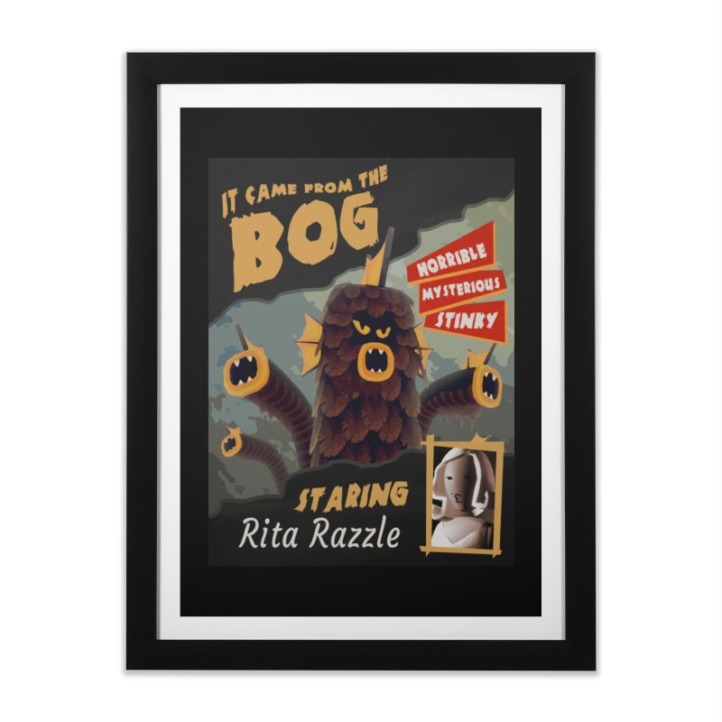 Monster Movie poster Home Framed Fine Art Print by Rec Room Official Gear