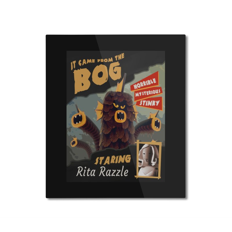 Monster Movie poster Home Mounted Aluminum Print by Rec Room Official Gear