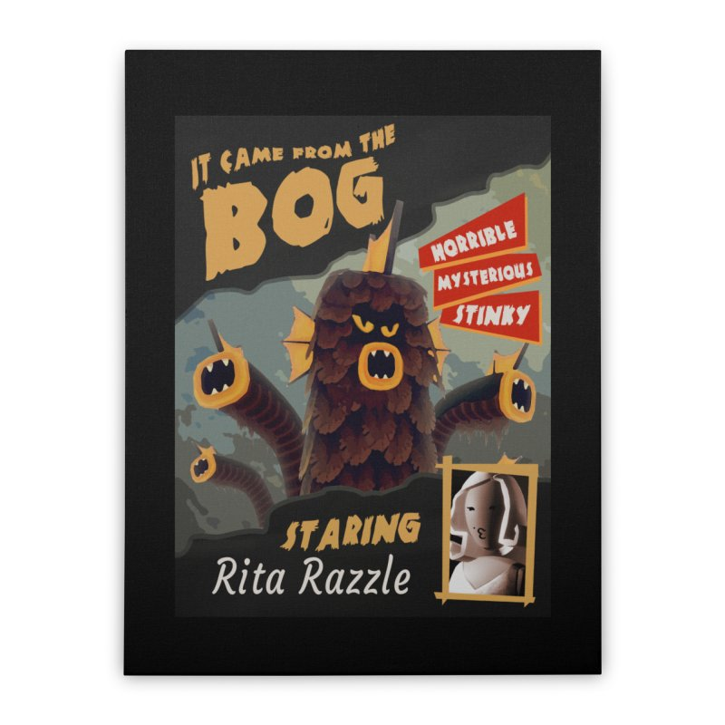 Monster Movie poster Home Stretched Canvas by Rec Room Official Gear