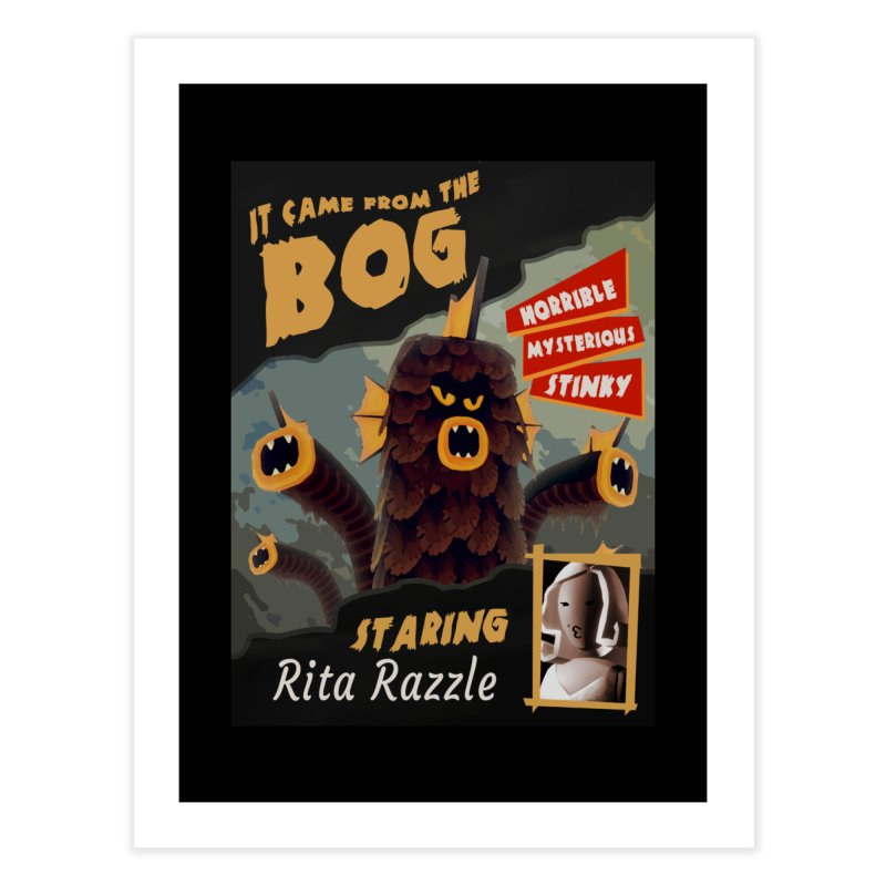 Monster Movie poster Home Fine Art Print by Rec Room Official Gear