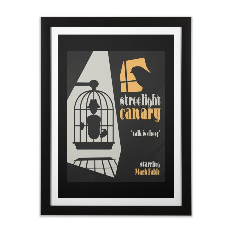 Streetlight Canary poster Home Framed Fine Art Print by Rec Room Official Gear