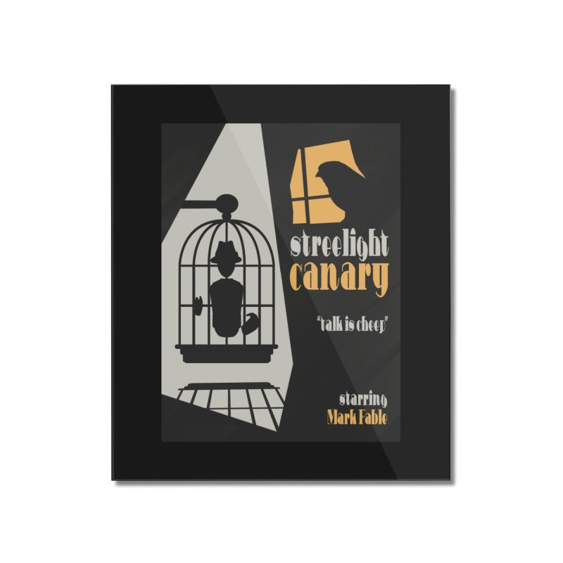 Streetlight Canary poster Home Mounted Acrylic Print by Rec Room Official Gear