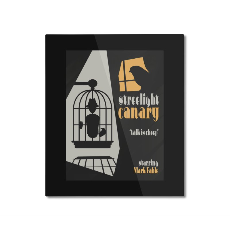 Streetlight Canary poster Home Mounted Aluminum Print by Rec Room Official Gear