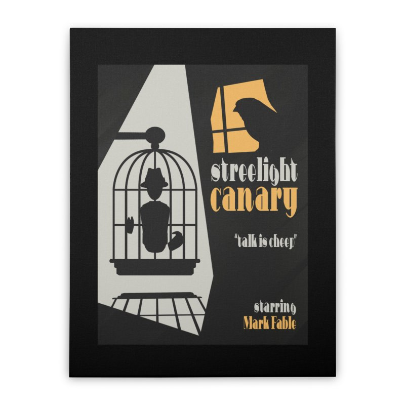 Streetlight Canary poster Home Stretched Canvas by Rec Room Official Gear