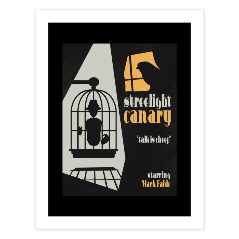 Streetlight Canary poster Home Fine Art Print by Rec Room Official Gear