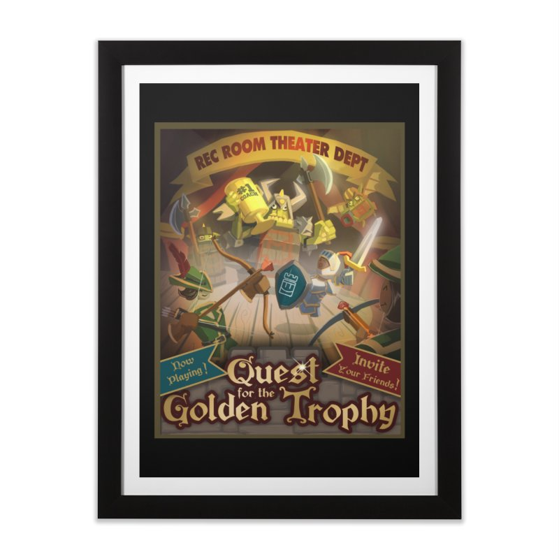 Quest Poster Home Framed Fine Art Print by Rec Room Official Gear