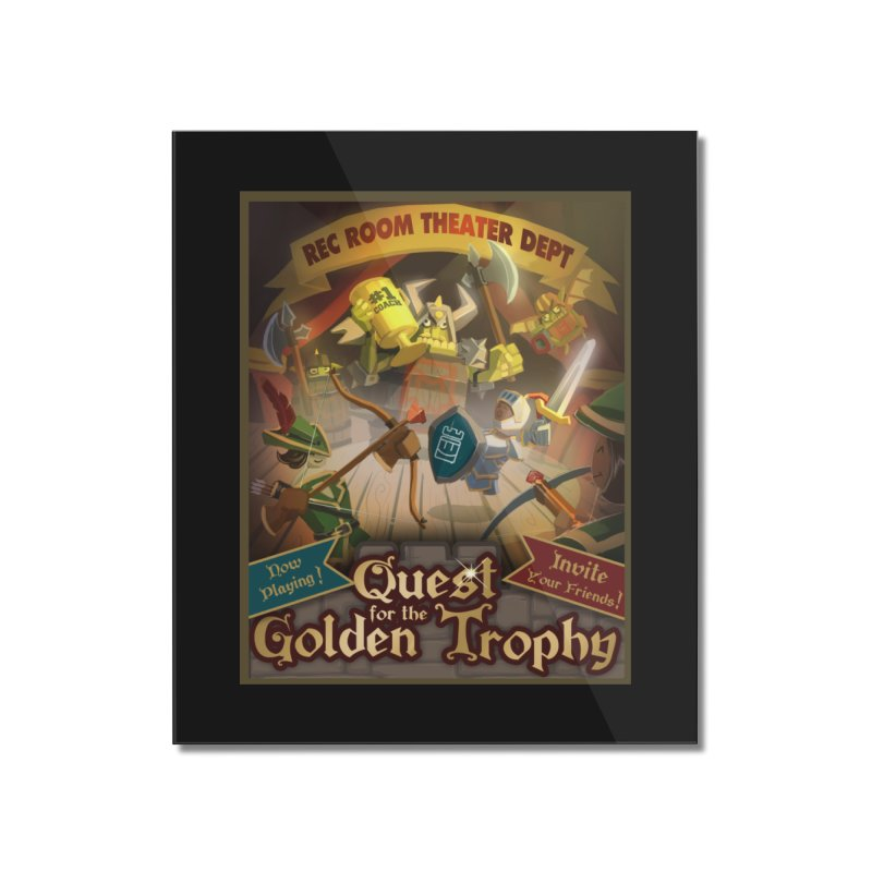 Quest Poster Home Mounted Acrylic Print by Rec Room Official Gear