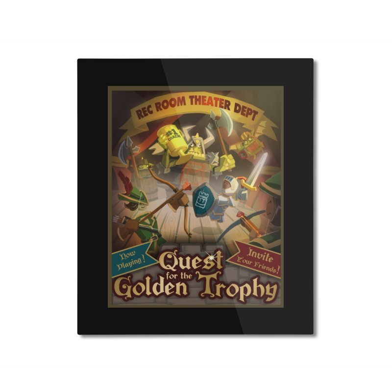 Quest Poster Home Mounted Aluminum Print by Rec Room Official Gear