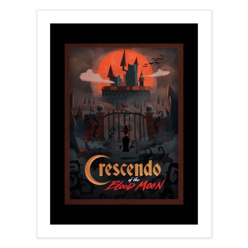 crescendo of the blood moon poster Home Fine Art Print by Rec Room Official Gear