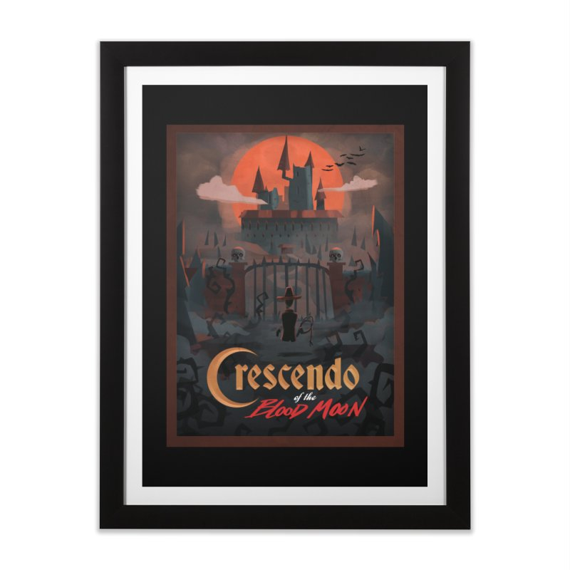 crescendo of the blood moon poster Home Framed Fine Art Print by Rec Room Official Gear
