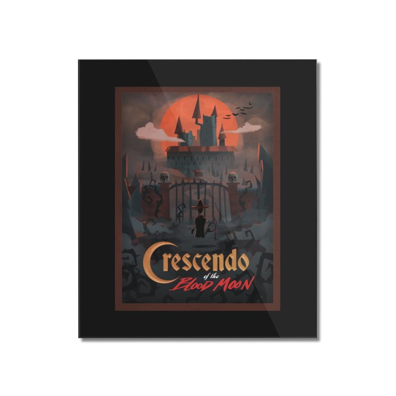 crescendo of the blood moon poster Home Mounted Acrylic Print by Rec Room Official Gear