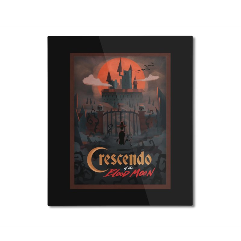 crescendo of the blood moon poster Home Mounted Aluminum Print by Rec Room Official Gear