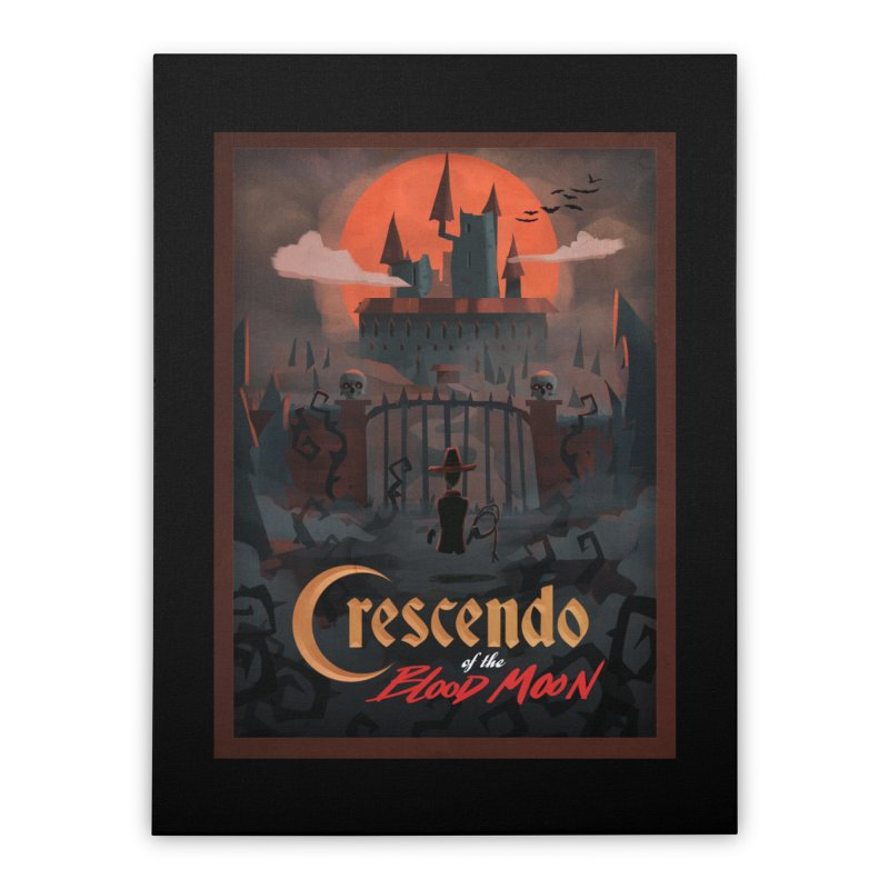 crescendo of the blood moon poster Home Stretched Canvas by Rec Room Official Gear