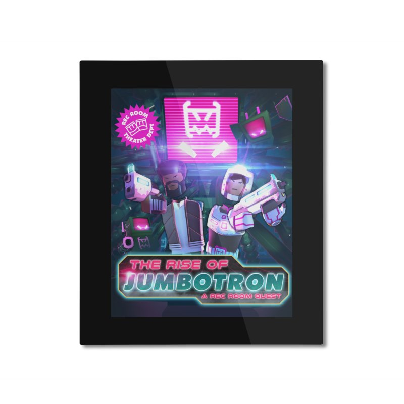 jumbotron poster Home Mounted Aluminum Print by Rec Room Official Gear