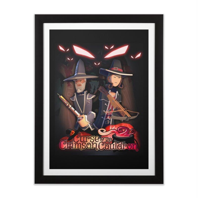 Crimson Cauldron poster Home Framed Fine Art Print by Rec Room Official Gear