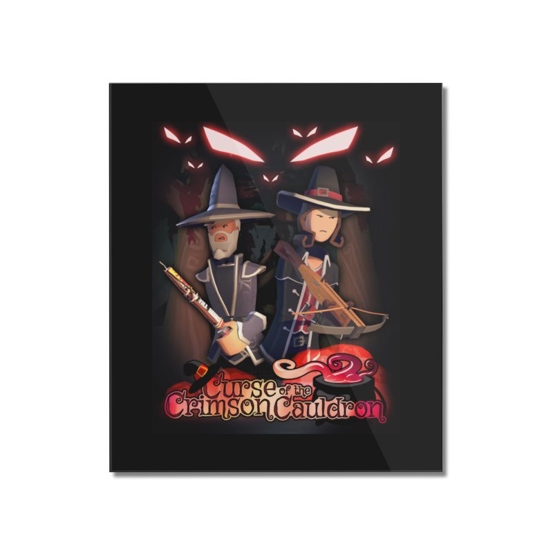 Crimson Cauldron poster Home Mounted Acrylic Print by Rec Room Official Gear