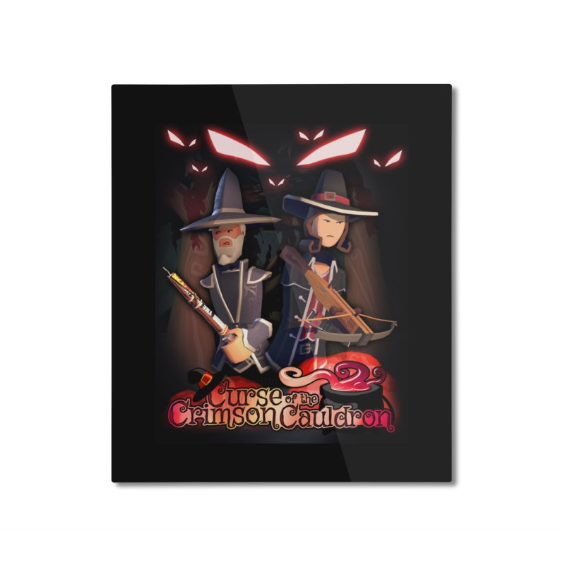 Crimson Cauldron poster Home Mounted Aluminum Print by Rec Room Official Gear