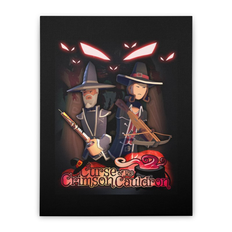 Crimson Cauldron poster Home Stretched Canvas by Rec Room Official Gear