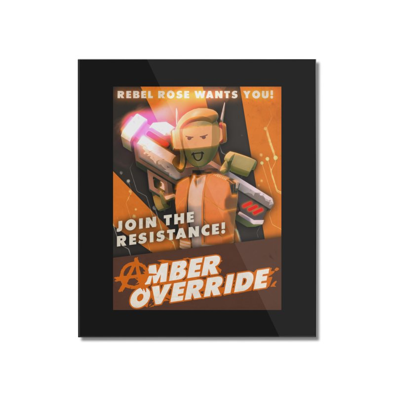rose poster Home Mounted Acrylic Print by Rec Room Official Gear