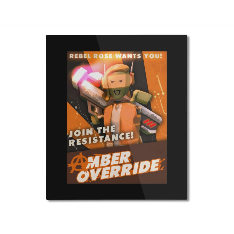 rose poster Home Mounted Aluminum Print by Rec Room Official Gear