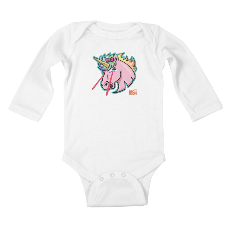 Rec Room Sasha the Lasercorn Kids Baby Longsleeve Bodysuit by Rec Room Official Gear
