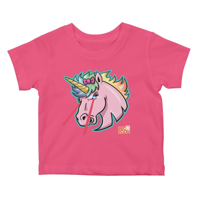 Rec Room Sasha the Lasercorn Kids Baby T-Shirt by Rec Room Official Gear