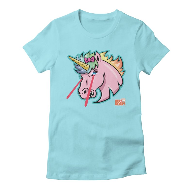 Rec Room Sasha the Lasercorn Women's Fitted T-Shirt by Rec Room Official Gear