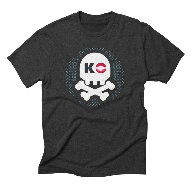 Rec Room Laser Tag KO Skull Men's Triblend T-Shirt by Rec Room Official Gear