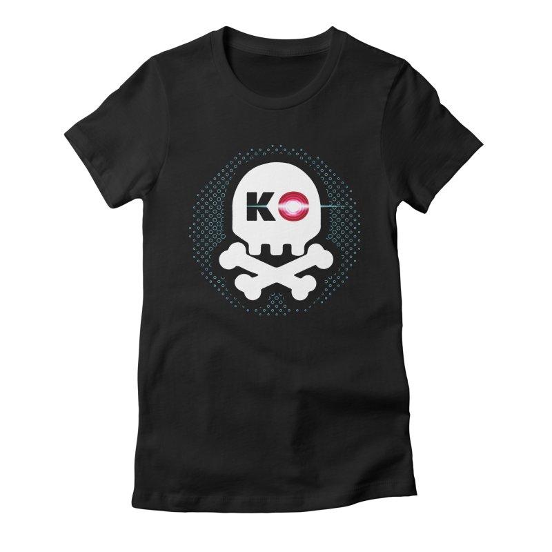 Rec Room Laser Tag KO Skull Women's T-Shirt by Rec Room Official Gear