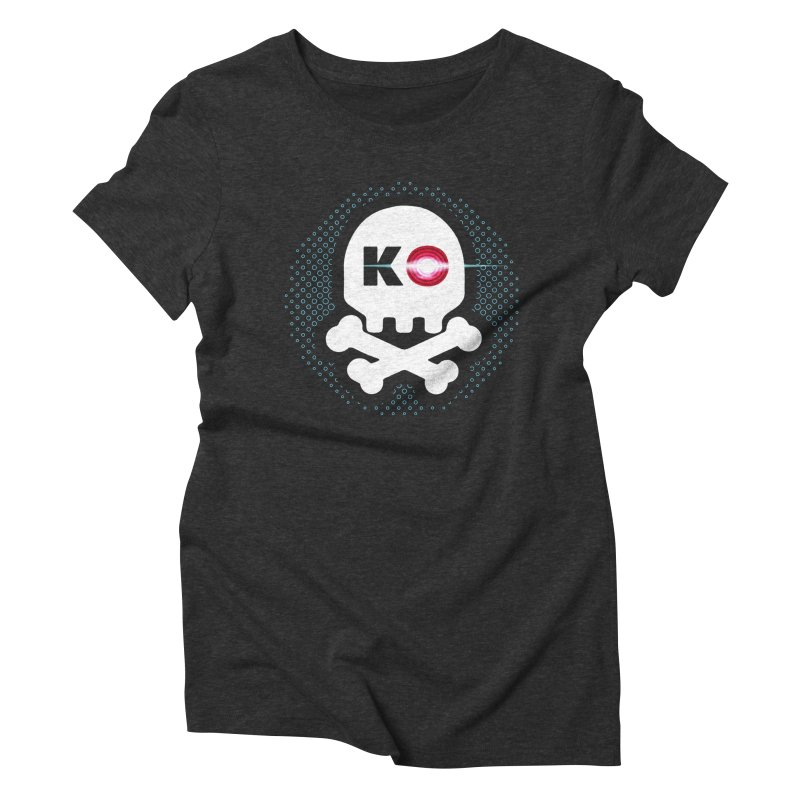 Rec Room Laser Tag KO Skull Women's Triblend T-Shirt by Rec Room Official Gear