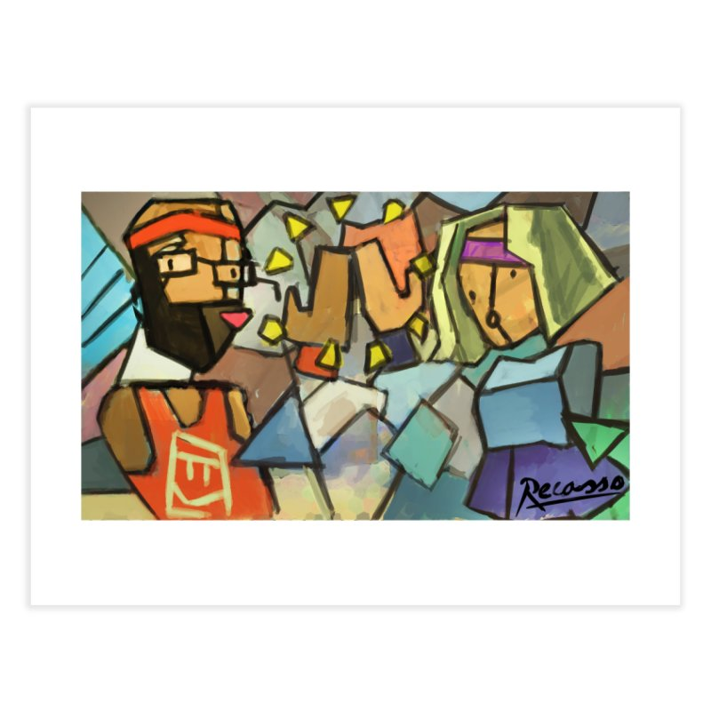 "Rec Room Recasso's ""High Five"" Home Fine Art Print by Rec Room Official Gear"