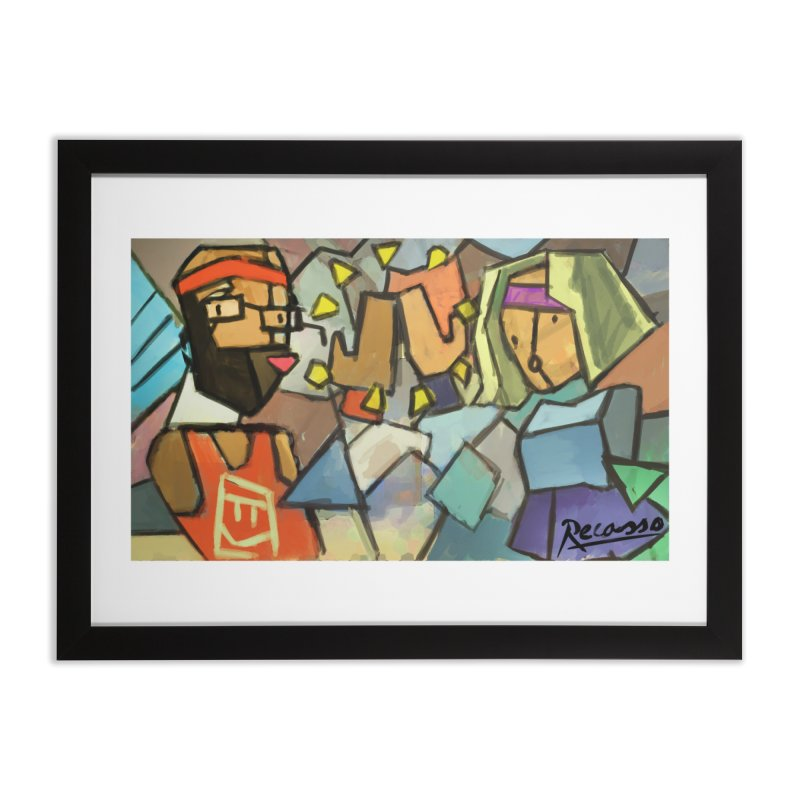 "Rec Room Recasso's ""High Five"" Home Framed Fine Art Print by Rec Room Official Gear"