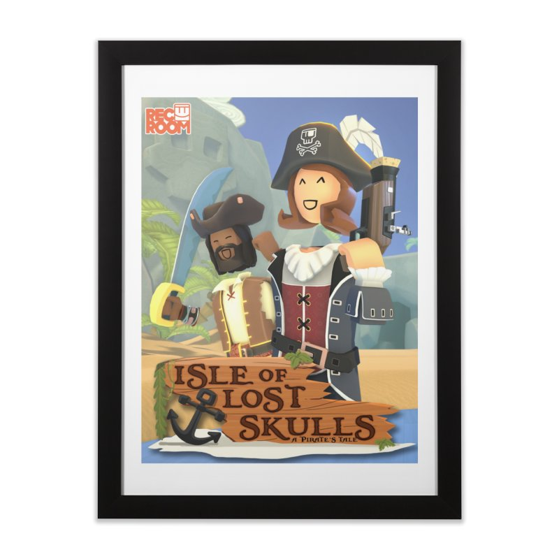 "Rec Room ""Isle of Lost Skulls"" Pirate Quest Poster Home Framed Fine Art Print by Rec Room Official Gear"