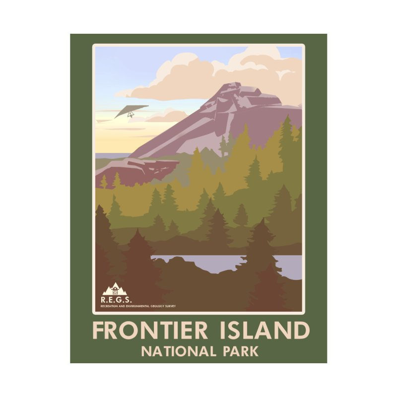 RecRoyale Frontier Island  National Park Poster by Rec Room Official Gear