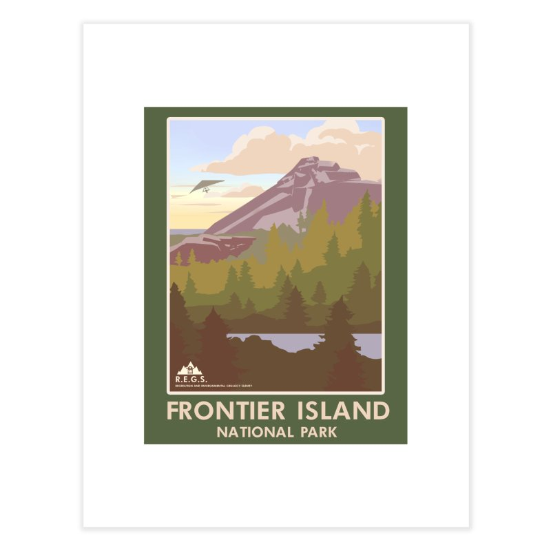 RecRoyale Frontier Island  National Park Poster Home Fine Art Print by Rec Room Official Gear