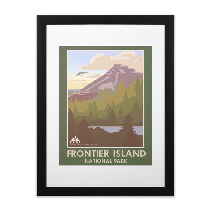 RecRoyale Frontier Island  National Park Poster Home Framed Fine Art Print by Rec Room Official Gear