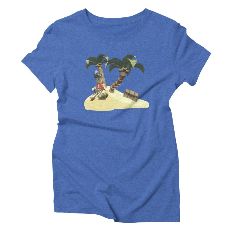 Isle of Lost Skulls Lonely Pirate shirt Women's Triblend T-Shirt by Rec Room Official Gear