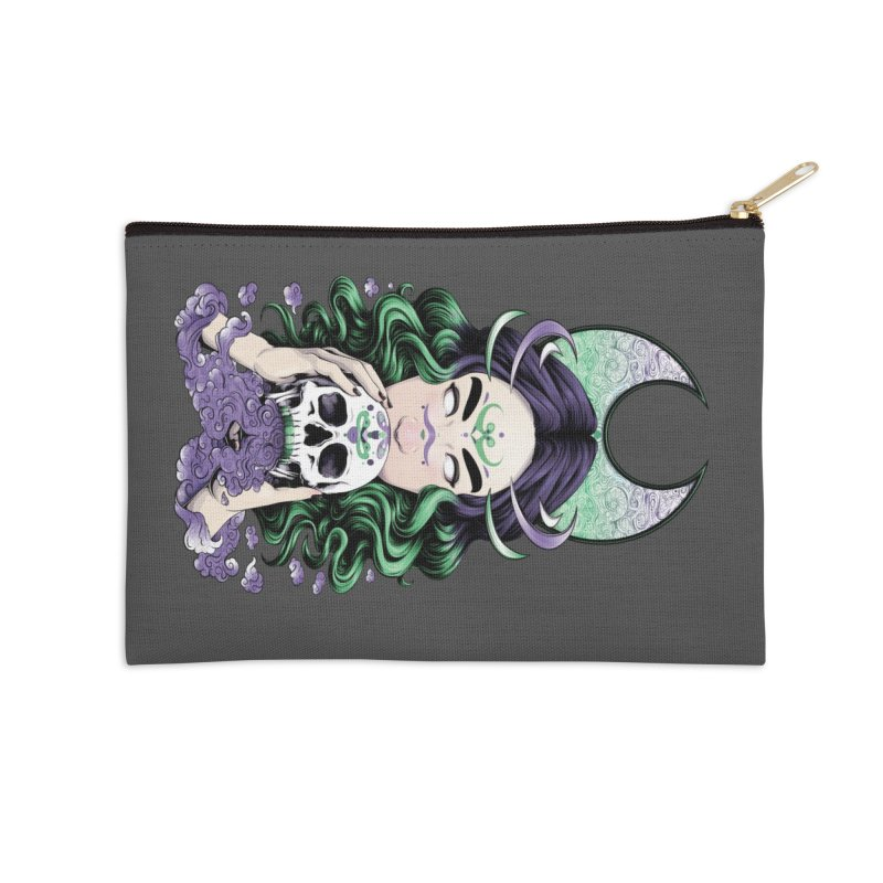 Purple Smoke Accessories Zip Pouch by Red Apple Tees
