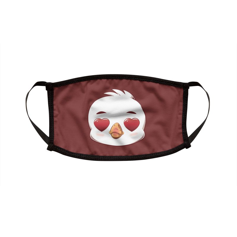 dinkygoose - Heart Eyes Accessories Face Mask by Red Apple Tees