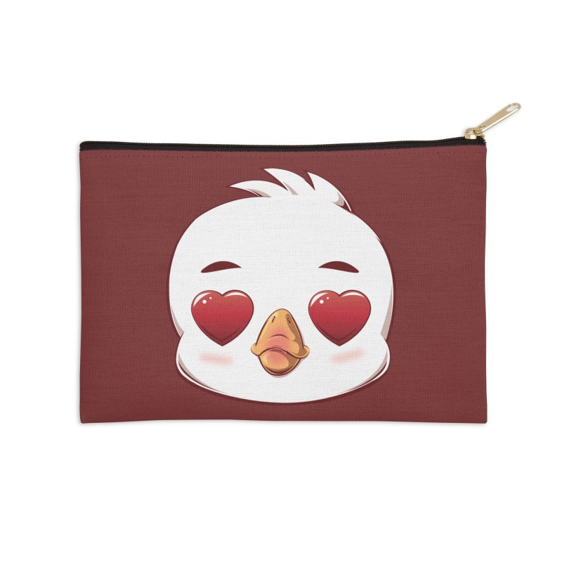 dinkygoose - Heart Eyes Accessories Zip Pouch by Red Apple Tees
