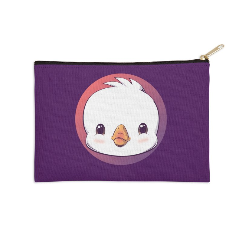 dinkygoose - Happy Accessories Zip Pouch by Red Apple Tees