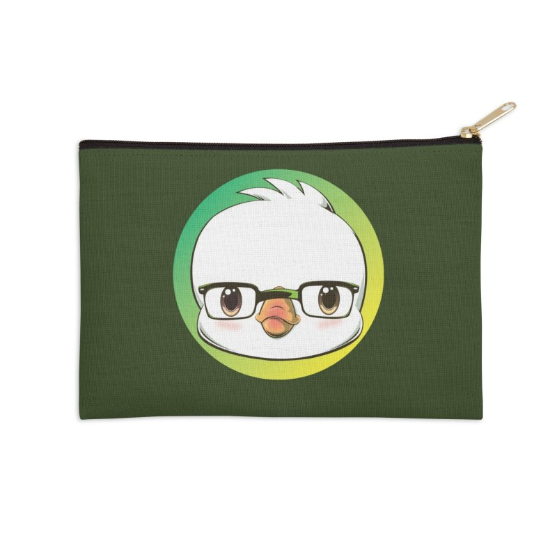 dinkygoose - Glasses Accessories Zip Pouch by Red Apple Tees