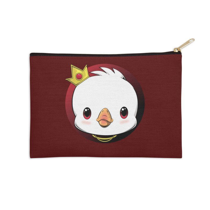 dinkygoose - King Accessories Zip Pouch by Red Apple Tees