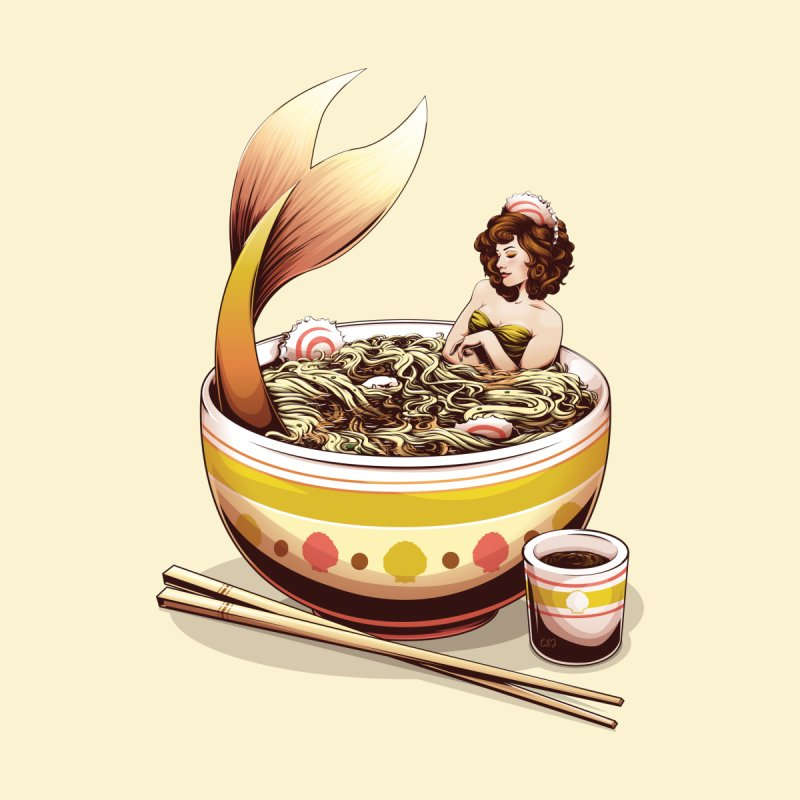 Mer-Noodles Men's Tank by Red Apple Tee's