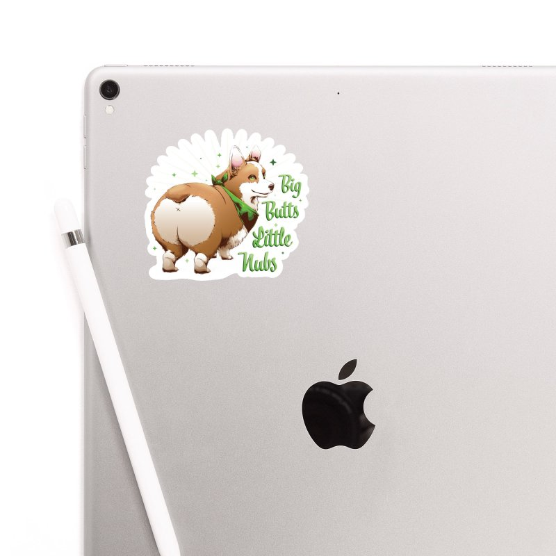 Big Butts Little Nubs - Corgi Accessories Sticker by Red Apple Tees